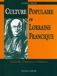Culture populaire en Lorraine Francique